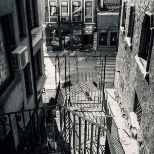 Stairs on the small street