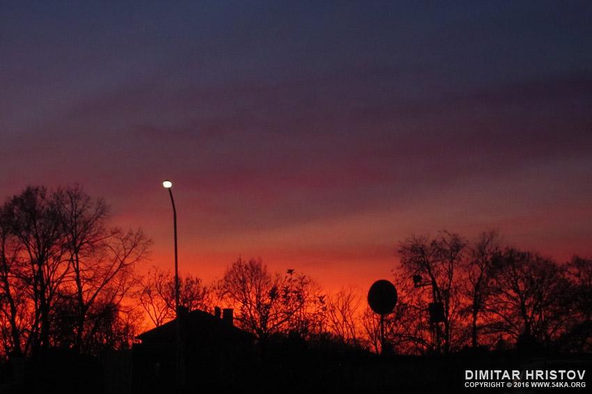 Violet Sunset on a night sky photography landscapes  Photo