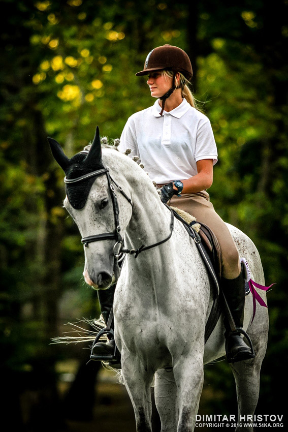 Girl riding white arabian horse photography portraits featured equine photography animals  Photo