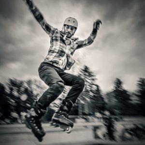 Rollerblade jump