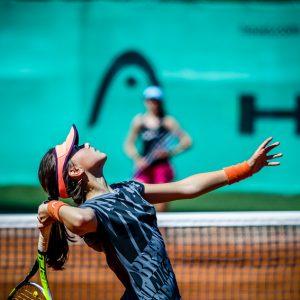Young Girls Playing Tennis