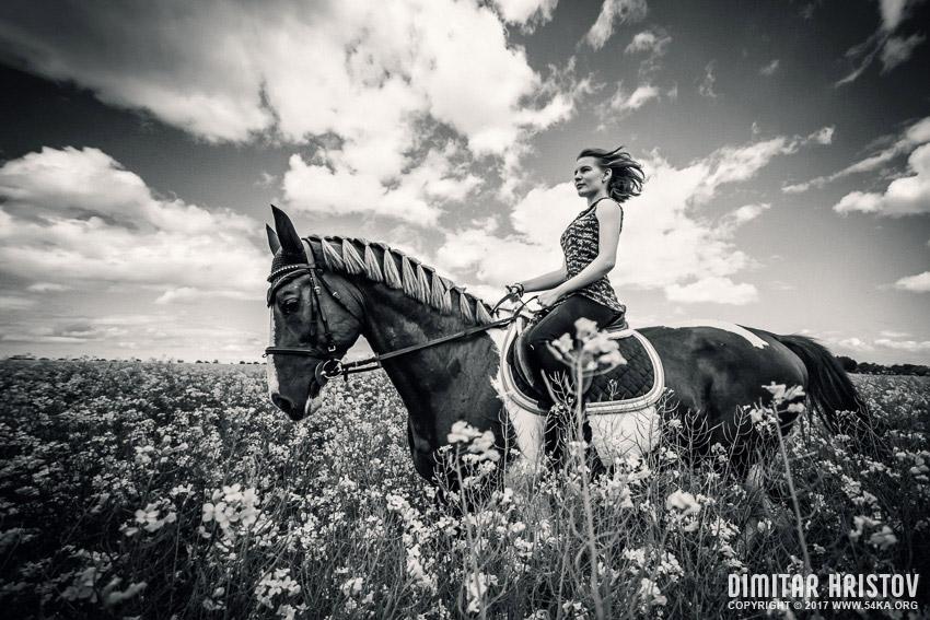 Girls riding horse in beautiful meadow - 54ka [photo blog]