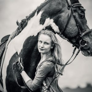 Horse and girl – Portrait