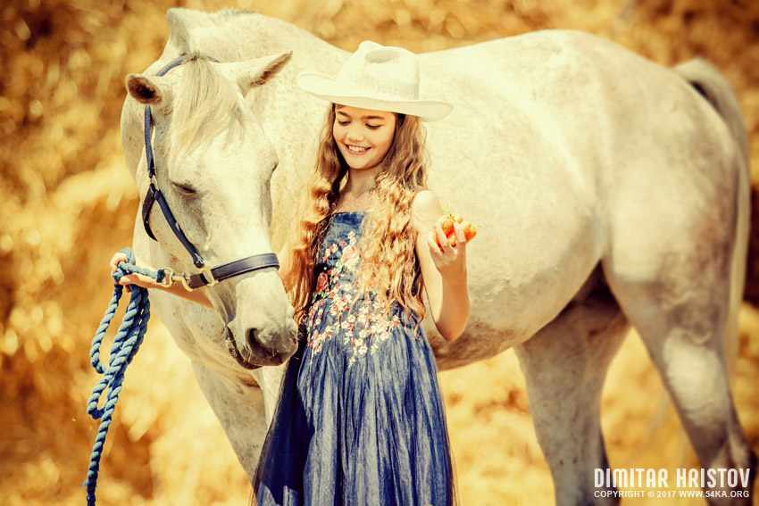 Cute Girl and Horse   Charming Portrait photography portraits top rated featured equine photography  Photo