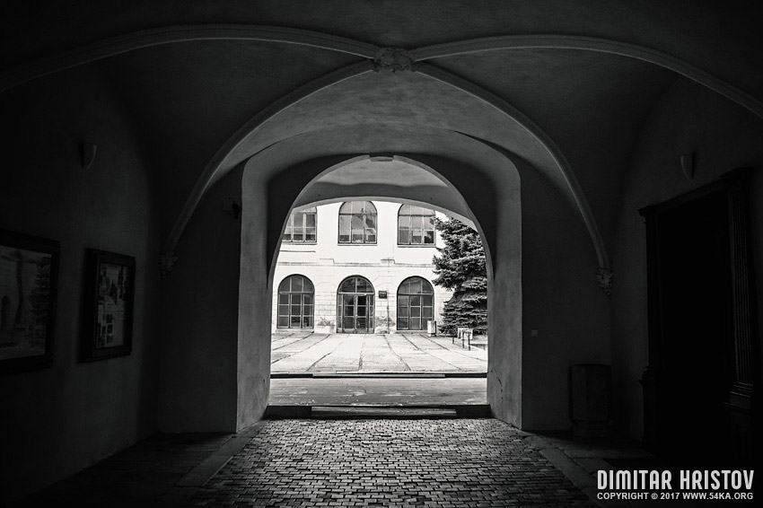 The manor house in Humenne – entrance to inner courtyard photography urban daily dose black and white  Photo