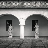 The manor house in Humenne, Slovakia – Inner courtyard