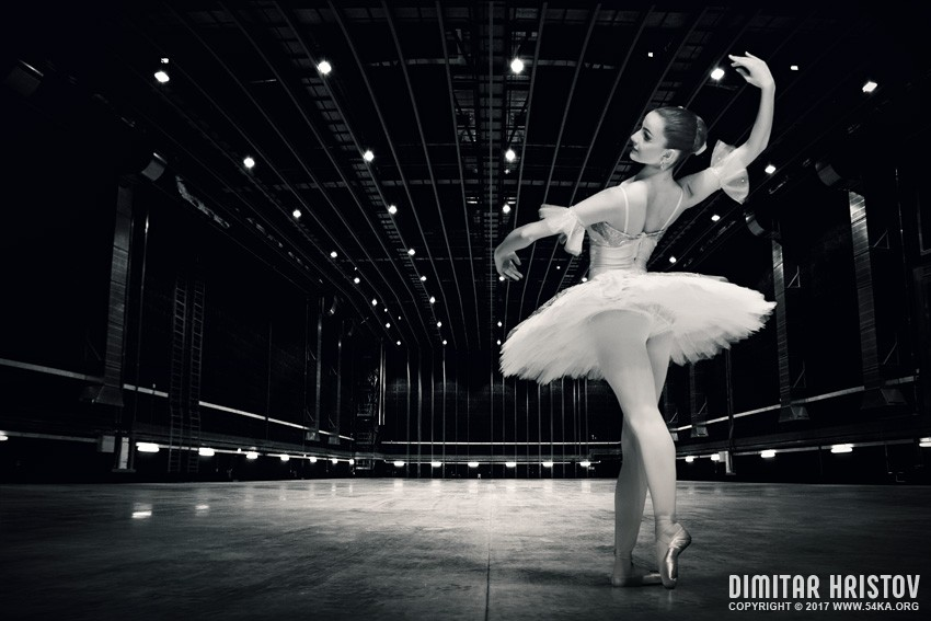 Ballerina   Beautiful pose on the stage photography other featured black and white  Photo