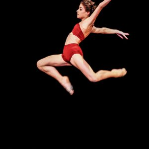 Modern style – ballet dancer jumping