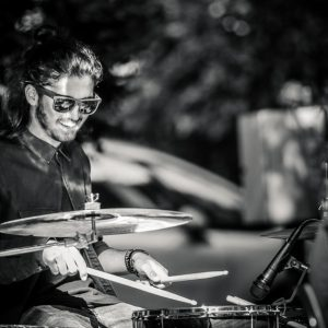 Street music performance – The Drummer portrait
