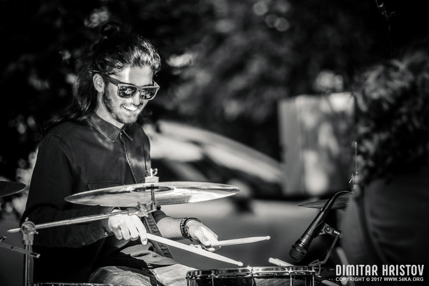 Street music performance   The Drummer portrait photography daily dose black and white  Photo