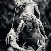 Sculpture St. George the Victorious on horse
