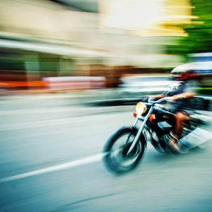 Biker riding motorbike – Abstract motion