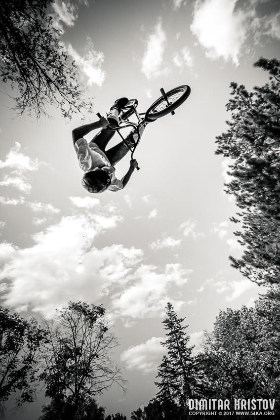 BMX Salto photography sport extreme black and white  Photo