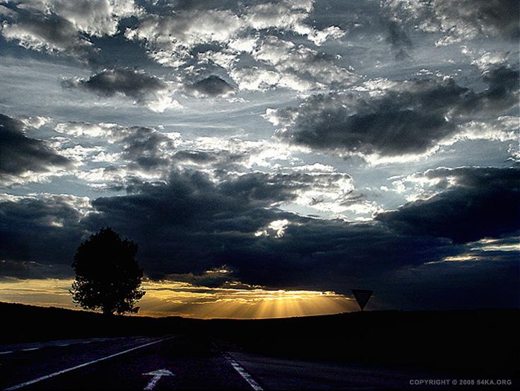 Sunset Road photography landscapes  Photo
