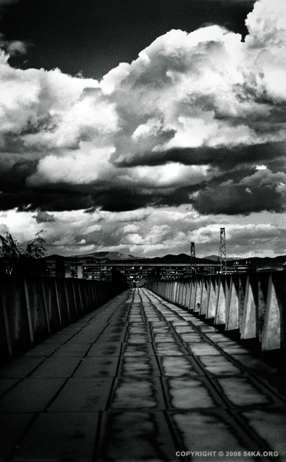 Bridge photography urban other landscapes black and white  Photo