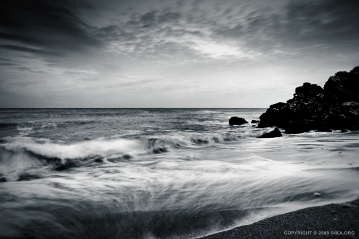 The Winter Sea photography landscapes black and white  Photo