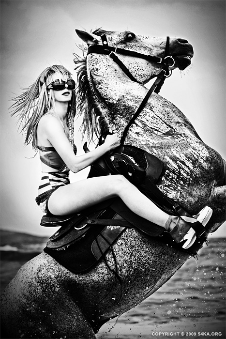 Horse Rider (Fashion II) photography featured fashion equine photography black and white animals  Photo