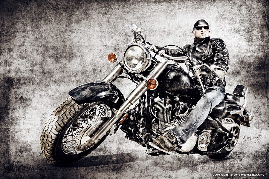Biker I photography portraits photomanipulation featured  Photo