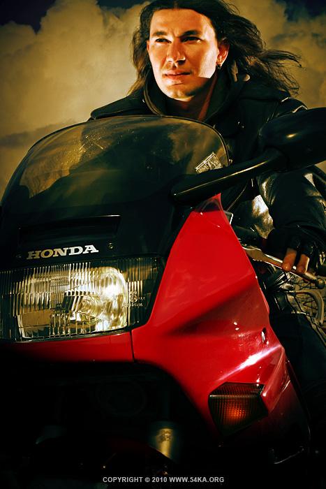Red Honda photography portraits  Photo