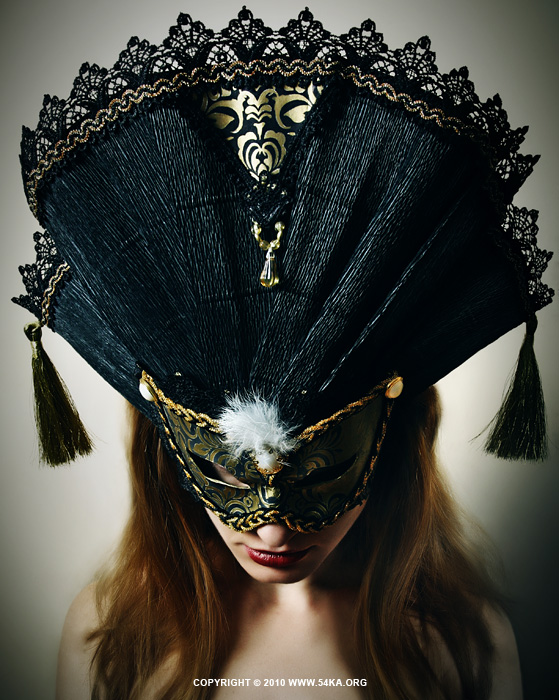 Midnight Eyes I   Venetian eye mask photography featured fashion  Photo