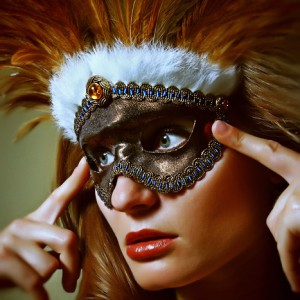 Feather mask – eye mask