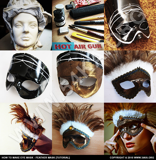 How to Make eye mask – Feather [Tutorial] photography venetian eye mask tutorials diy tutorials  Photo