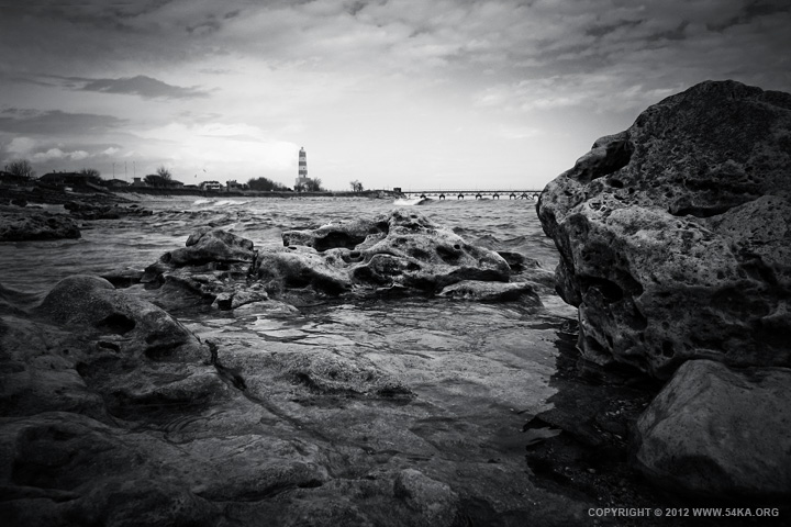 Shablas Lighthouse photography landscapes featured black and white  Photo