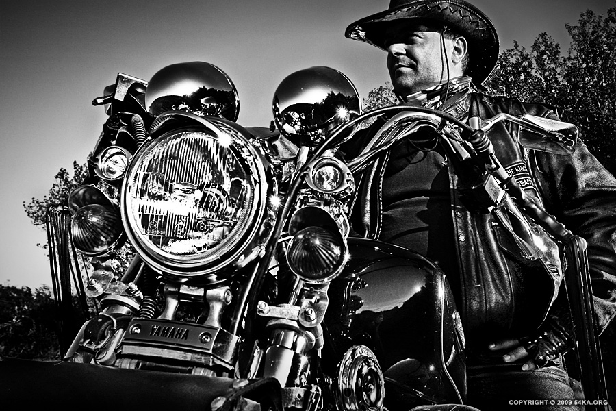 Motorcycle Man photography portraits featured black and white  Photo