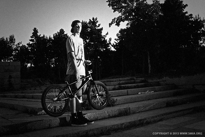 BMX Rider Portrait photography portraits black and white  Photo