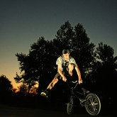 BMX Bicycle Rider