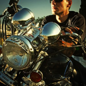 Biker Man Portrait – Motorcycle Lifestyles
