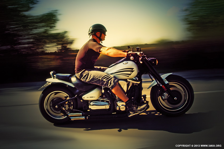 Motorcycle Man in Motion on The Road photography other featured  Photo