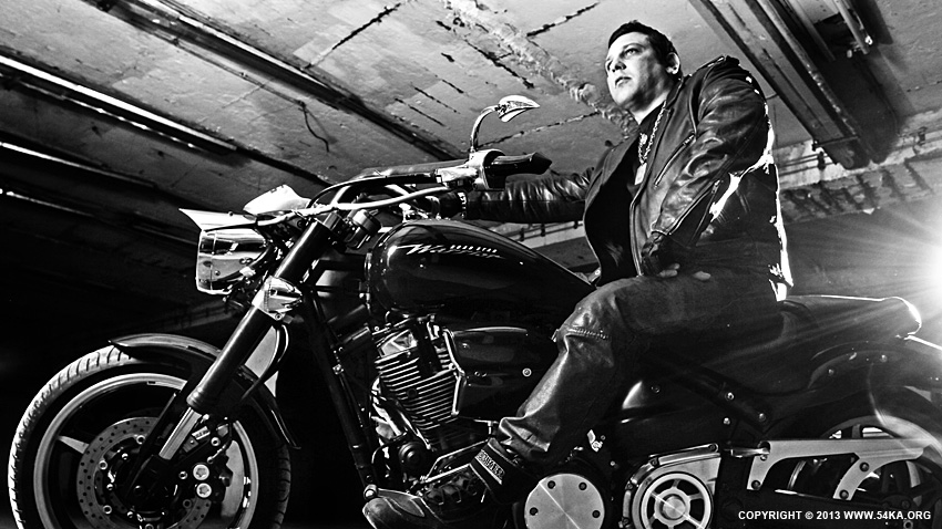 Biker Portrait B&W photography portraits black and white  Photo