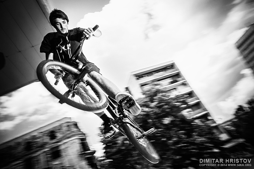 BMX Jump tricks photography other extreme black and white  Photo