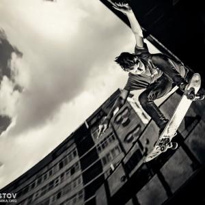 Skater jumps