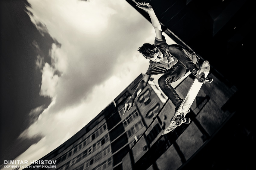 Skater jumps photography other featured extreme black and white  Photo