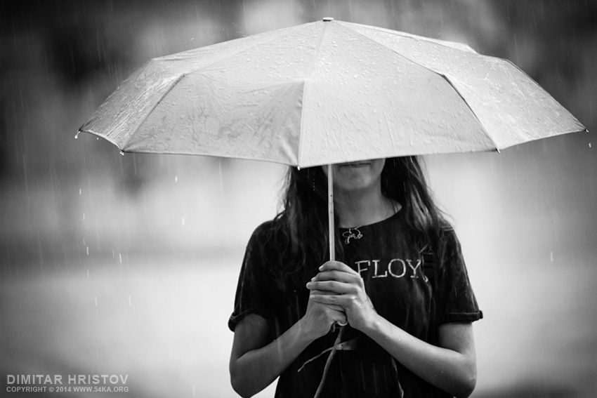Summer rain photography other black and white  Photo