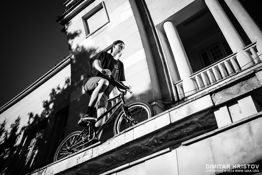 BMX Freestyle photography other extreme black and white  Photo