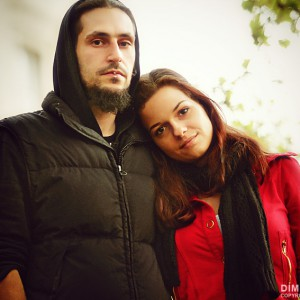 Young beautiful couple portrait