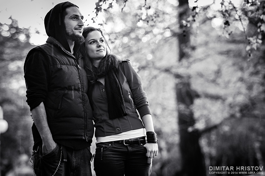 Couple street black and white portrait photography portraits black and white  Photo