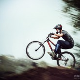 Mountain Bike Extreme Jumping