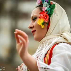 Bulgarian girl in traditional clothes
