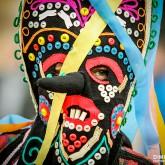 Kukeri mask close-up