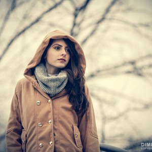 Vintage colors autumn portrait