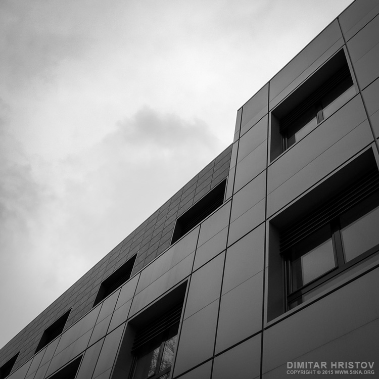 Facade office building   Urban photography   6x6 middle format photography urban other black and white  Photo
