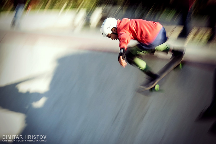 Skateboarder in pool photography other featured extreme  Photo
