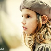 Portrait of a cute little girl with hat