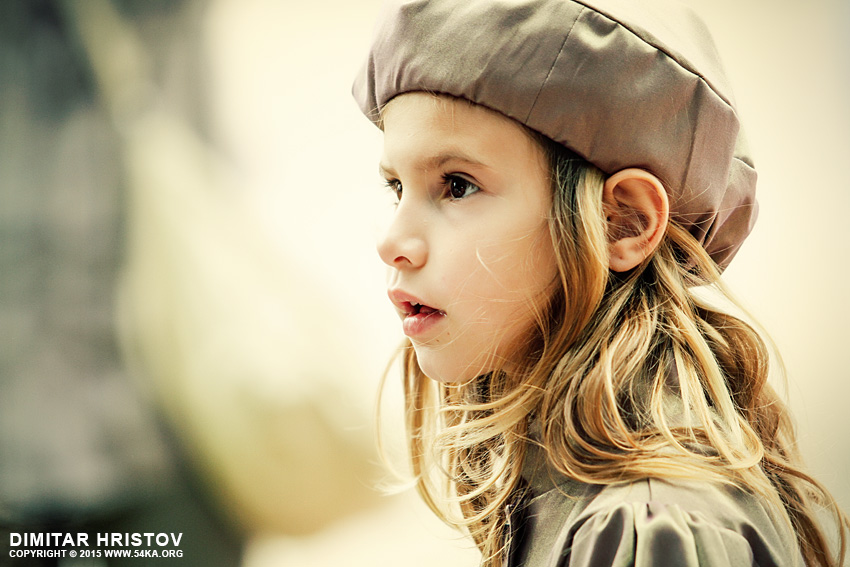Portrait of a cute little girl with hat photography portraits featured  Photo