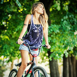 BMX Girl Portrait