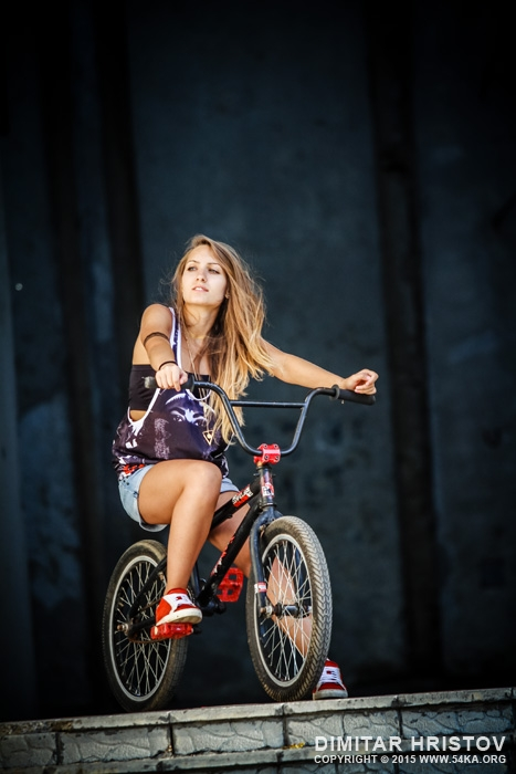 BMX Beauty photography portraits featured extreme  Photo
